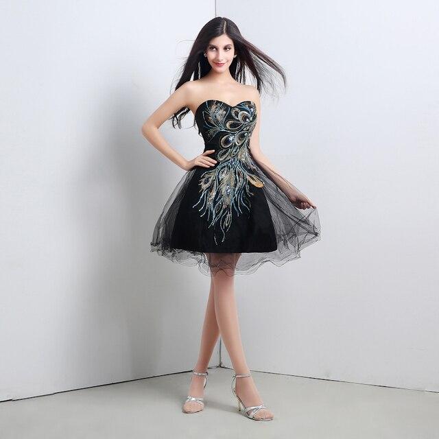 751834e742 Shootingh foto Real vestido de festa curto bordado vestido de baile querida  partido CPS115
