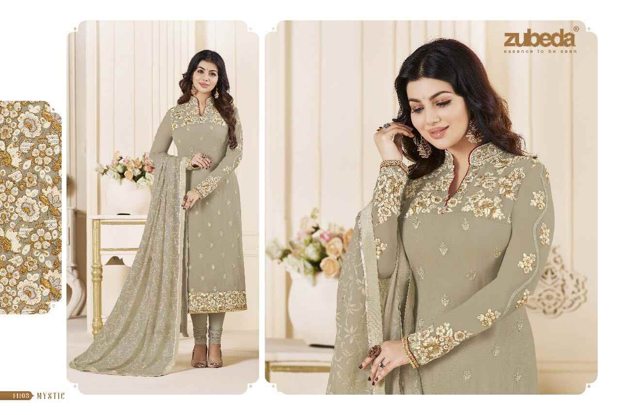 2e5441318a ... ZUBEDA Indian Pakistan Dress Designer Women Flower Embroidery Churidar Salwar  Kameez Stitched Suit Bollywood Ethnic Party