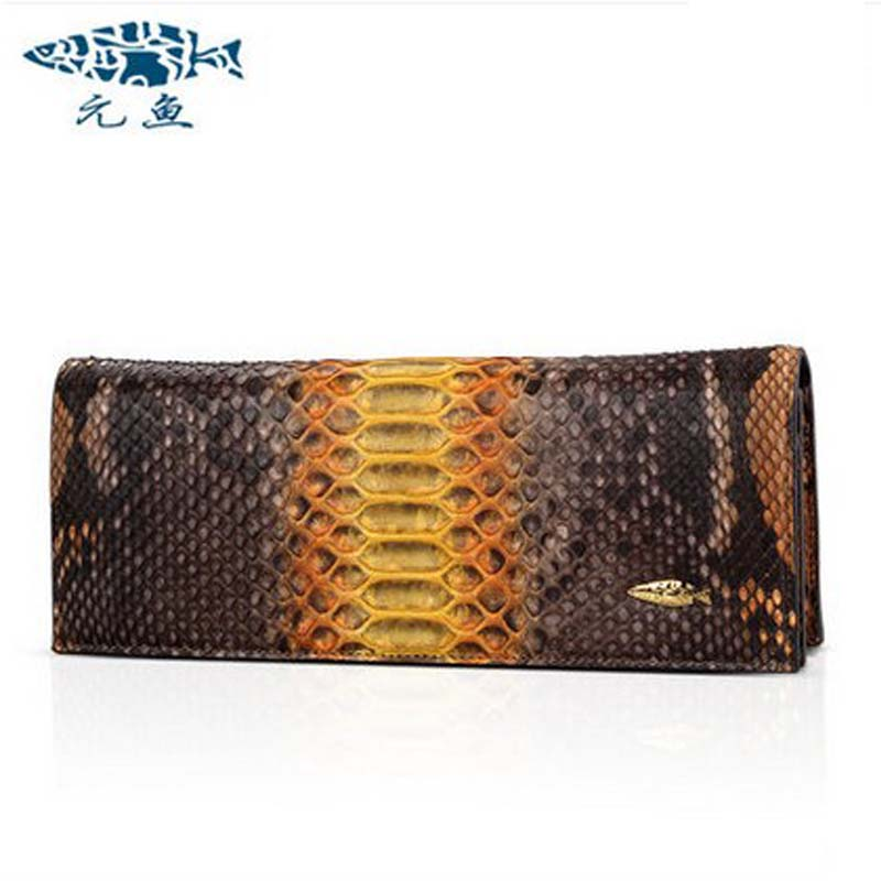 YuanYu 2018 new hot free shipping import real python leather women clutches female serpentine women  long purse wallet yuanyu new crocodile wallet alligatorreal leather women bag real crocodile leather women purse women clutches