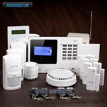 HOMSECUR Wireless GSM SMS Burglar Alarm System+Signal Booster+Password Keypad