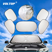 6pcs Car Sunshade Sun Shade Windshield Visor Cover Front Rear Window UV Protection Shield Film Reflective