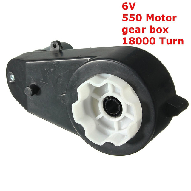 aed77d4a1ae 6V Metal + Plastic Kid Ride on Electric Car Bike Toy Rear Motor Complete  Gear Box Part Replace Durable Quality