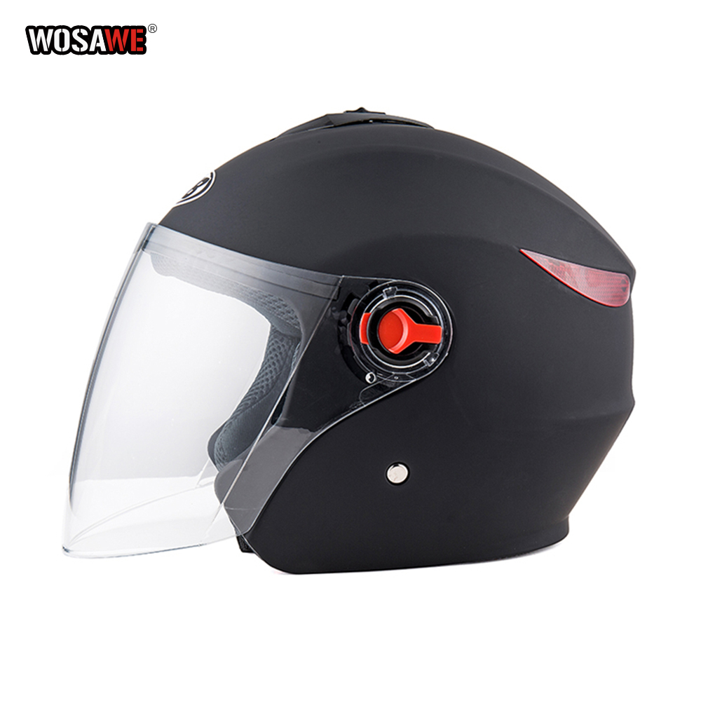 Motorcycle vintage Helmet Four Seasons Racing Half Helmets Motorbike capacete de motocicleta cascos para moto for Women/Men-in Helmets from Automobiles & Motorcycles