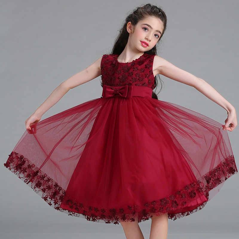 3efa76a600e Дети блестками платье для девочек в цветочек  платье для свадебной  вечеринки детские праздничные платья детский