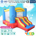 Doble diapositivas casa de brinco inflables de juguete para niños trampolín inflable combo con soplador de aire