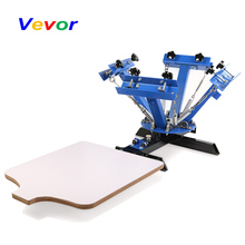 цены VEVOR Screen Printing Machine Press 4 Color 1 Station Silk Screen Printing Machine Adjustable Double Spring Devices