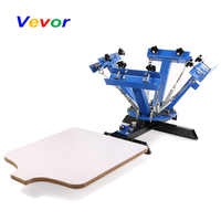 VEVOR Screen Printing Machine Press 4 Color 1 Station Silk Screen Printing Machine Adjustable Double Spring Devices
