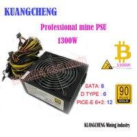 KUANGCHENG ETH Thợ Mỏ ZCASH MINER 1300 Wát Bitcoin & Litecoin thợ mỏ cung cấp điện cho R9 380 RX 470 RX480 6 GPU asic bitcoin thợ m