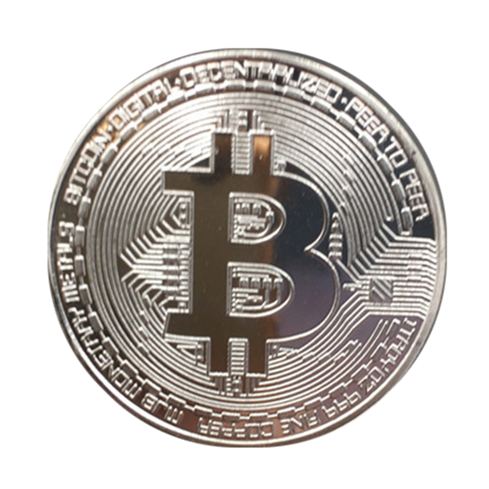 100pcs/pack Wholesale Gold Plated Bitcoin Coin Collectible Coins Art Collection Gift Physical Metal antique imitation home decor