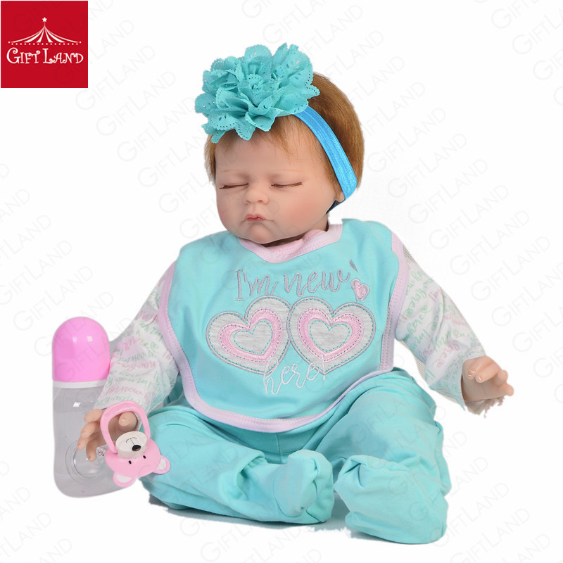 Reborn Baby Doll Lifelike Baby Newborn Baby Angel In A Fresh Green Suit Sleeping Baby Best Accompany For Children Love Gifts HOTReborn Baby Doll Lifelike Baby Newborn Baby Angel In A Fresh Green Suit Sleeping Baby Best Accompany For Children Love Gifts HOT