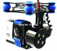 RTF Brushless 2 Axis Gimbal board with 2208 or 2804 Motors CNC ALU Metal For SJ4000 Gopro 3 4 for Quadcopter