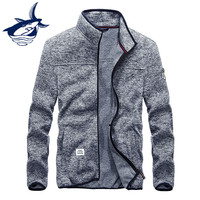 Brand Clothing Tace Shark Hoodies Men Sweatshirts Casual Fashion Zipped Stand Collar Knitted Men S Hoodie