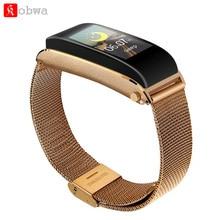 все цены на Kobwa Y6 Smart Bracelet Colorful Screen Blood Pressure Heart Rate Monitor Wireless Bluetooth Earphone Call Smart Band онлайн