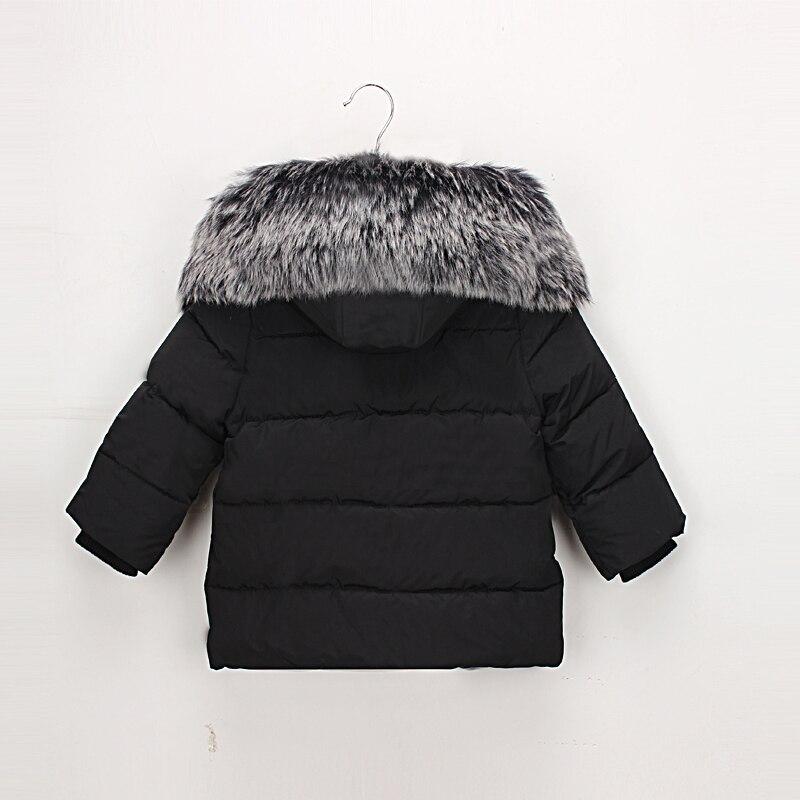 Hurave/2018 зимнее пальто с капюшоном и длинными рукавами для маленьких девочек, детская однотонная верхняя одежда, детская повседневная верхня...