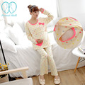 5666# Nursing Pajamas for Maternity Women Clothes for Pregnant Women Breastfeeding Sleepwear Suits Mother Breast Feeding Lounge