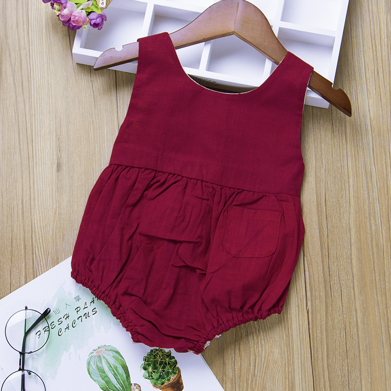 Baby Girl Ruffle Solid Color Romper Jumpsuit Outfits Sunsuit For Newborn Infant Children Clothes Kid Clothing High Quality Goods Mother & Kids Girls' Baby Clothing