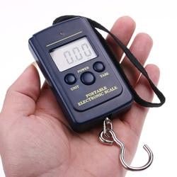 Balance de pêche de 20g à 40Kg, Mini de poche, Balance numérique électronique avec affichage LCD, crochet suspendu pour bagages