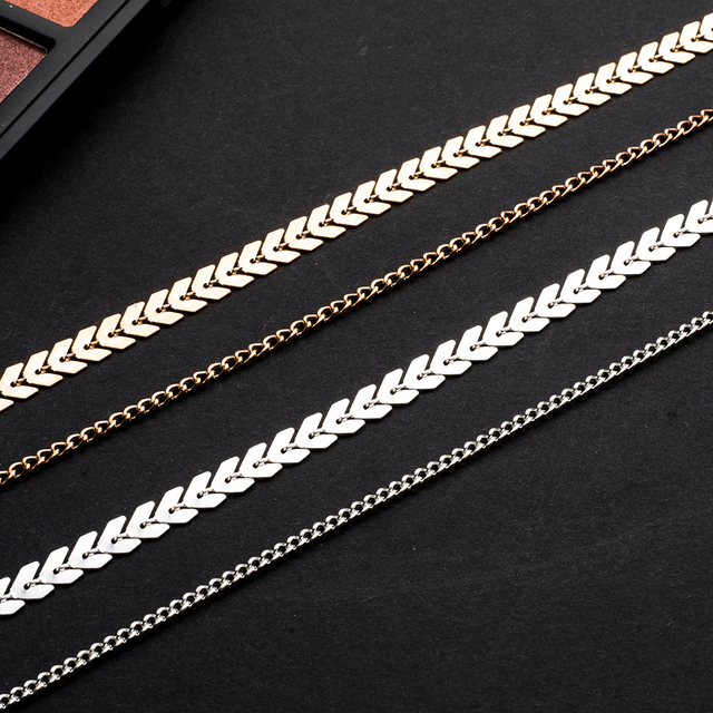 Two Layer Multi Arrow Choker Necklace