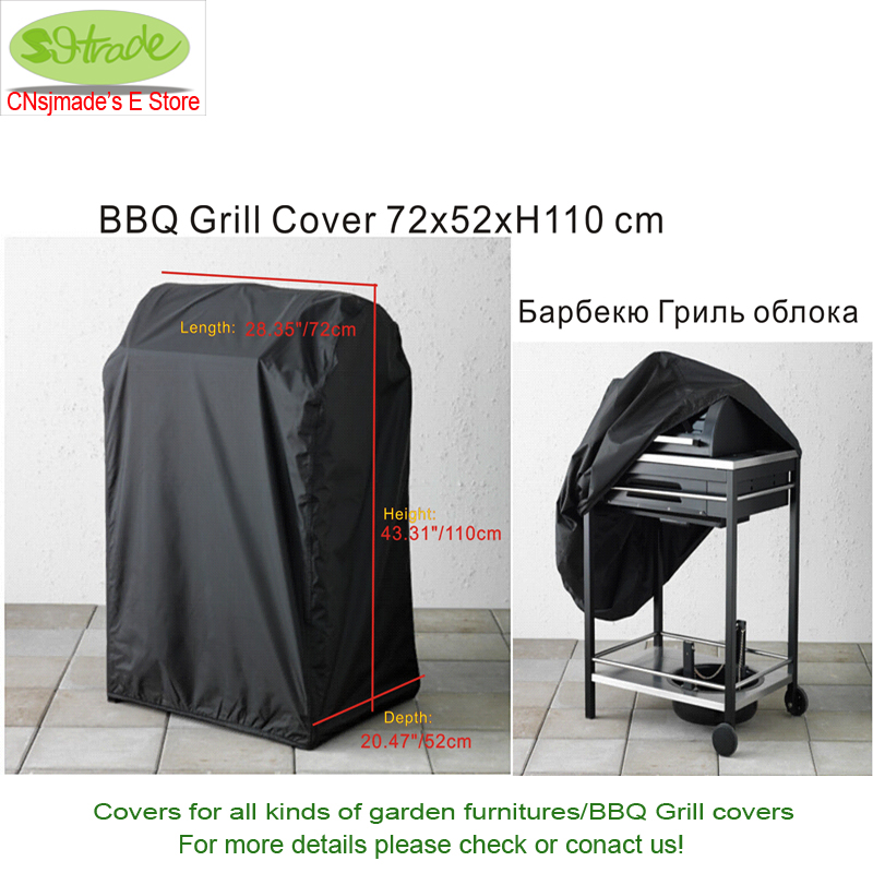 free shipping black bbq cover 72x52x110h proofed bbq grill cover bbq - Bbq Covers