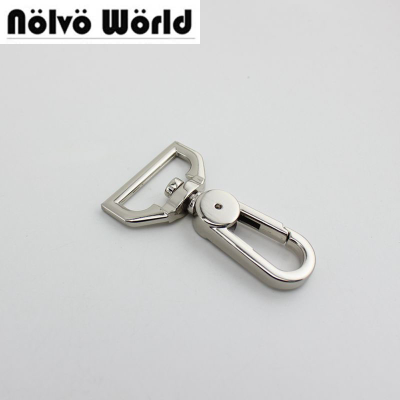 100pcs 5colors 25mm 32mm 38mm Snap Hook  Wholesale Zinc Alloy Metal Bags Hooks Shoulder Belt Buckle Backpack 30pcs