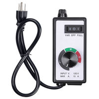 Hon Guan Variable 15A Fan Speed Controller 110V For Hydroponics Inline Duct Fan Exhaust With Wire