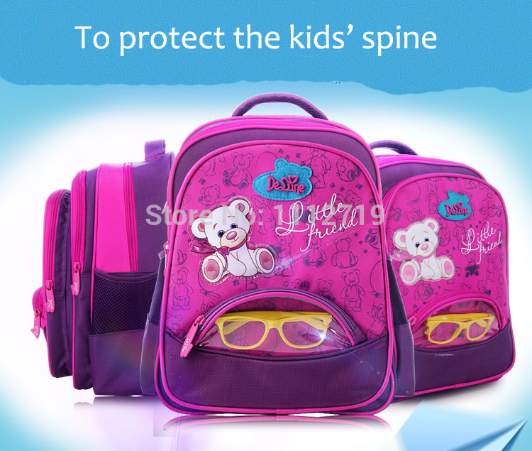 cf173b2abd2d Girls School Bags Orthopedic Princess Schoolbags Children Backpack ...