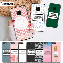 цена на Lavaza Social media harms you Silicone Case for Huawei Mate 10 Pro 20 30 Lite Nova 2i 3 3i 4 5i Y5 Y6 Y7 Prime Y9