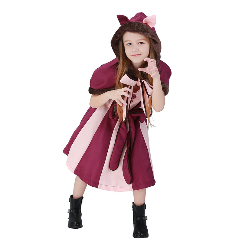 New children Alice in Wonderland Cosplays Girls Halloween Cheshire Cat Costume Animal Christmas stage show Role play party dress-in Girls Costumes from ...  sc 1 st  AliExpress.com & New children Alice in Wonderland Cosplays Girls Halloween Cheshire ...