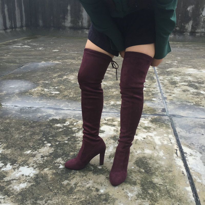 Popular Thigh High Boots for Plus Size-Buy Cheap Thigh High Boots ...