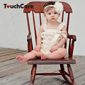 Кружева Рюшами Новорожденных Baby Romper Красочные Ремни Ленты Лук Детская Одежда Для Новорожденных Малышей Девушки Костюм Без Рукавов Летом Bebe