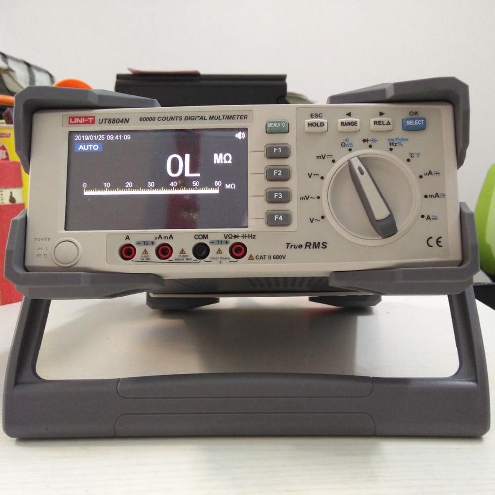 UNI-T UT8804N Bench Top Multimeter 1000V 20A 59999 Counts Digital Multimeter Tester Auto Range Multimetro Digital Voltmeter Ohm