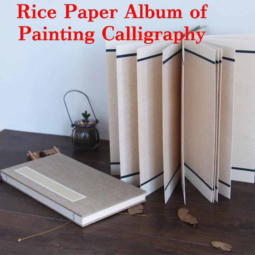 Archaistic Rice Paper Chinese Album of Painting Calligraphy fiberflax Page Book Blinding Notebook Painting booklets 140 page note paper creative fruit design