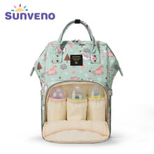 SUNVENO Mommy Diaper Bag Large Capacity Baby Nappy Bag Designer Nursing Bag Fashion Travel Backpack Baby Care Bag for Mother Kid(China)