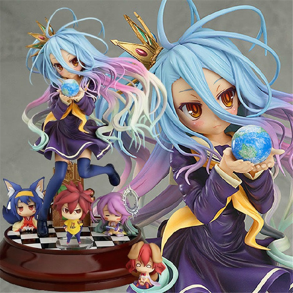 Action Figure Model Gift For No Game No Life Shiro Game Of Life Painted Second Generation Game Of Life 1/7 Scale 20cm