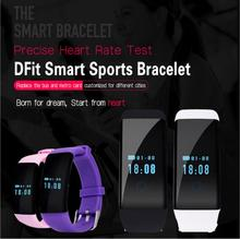 Original! DFit D21 Heart Rate Monitor Smartband Waterproof Swim Smart Band Bracelet Health Fitness Tracker for Android and iOS