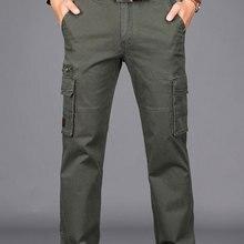 2019 Otoño e Invierno hombre grueso pantalones de carga militar Mens Formal  espesar pantalones de vestir de corte Slim de negoci. 3b6a6fd75e1