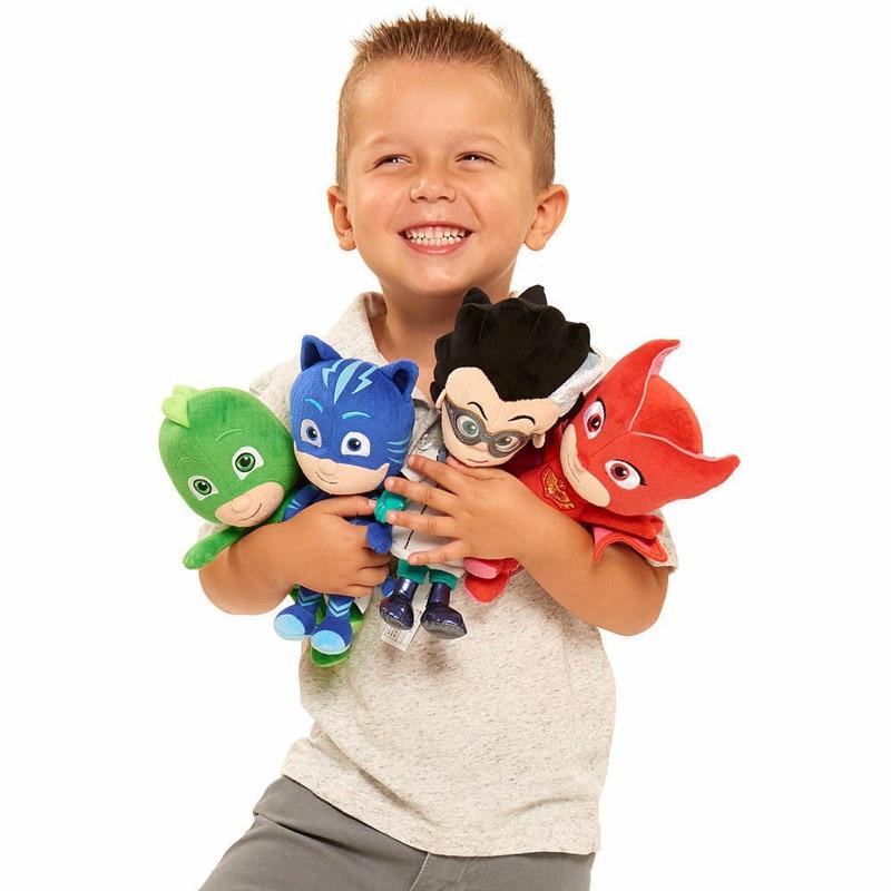 Wow!! 20cm Kids Favorite PJ Cartoon Catboy Owlette Gekko Cloak Masks Plush Toy Best Gift For Children Birthday Gifts