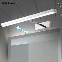 LED ミラーライト 6 ワット 8 ワット壁ランプステンレス + アクリルモダンな装飾照明浴室灯寝室玄関スタディ燭台ウォーム/ホワイト