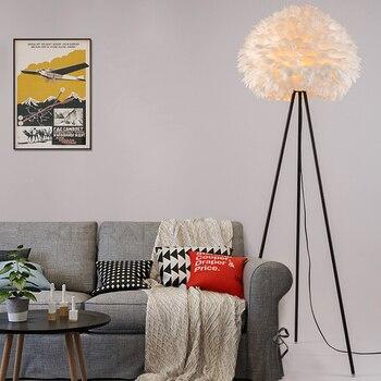 את אופנה עיצוב ייחודי אישיות חתונה חדר חם סלון מנורת חדר שינה ליד מיטת מנורת רצפת נוצות מנורות ZL334