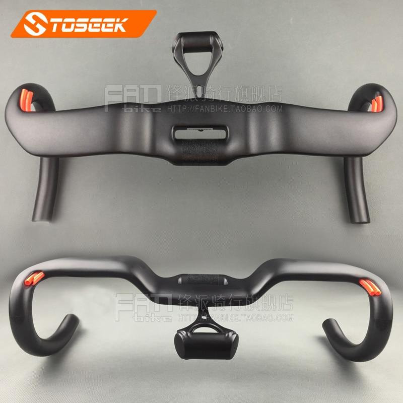 Full Carbon Fiber Integrated Bicycle Handlebar UD Road Bike Wind Break Bent bar With Computer holder