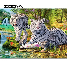 ZOOYA 5D DIY Diamond Painting Animal Tiger Embroidery Full Pack Kit Mosaic Sale Decor Pictures of Rhinestones RF1849