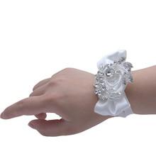 Elegant Wrist Corsage Bride Flowers Bridesmaid Sisters Hand flowers For Romantic Wedding Dancing Party Decor Bridal