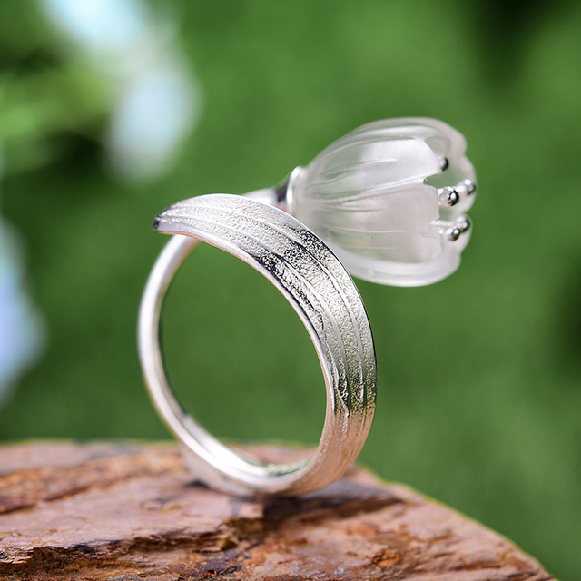 Natural Crystal Handmade Fine Flower Ring14