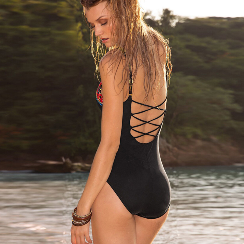 Woman see through swimsuit