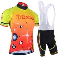 Для мужчин Vélo летний комплект Mtb велосипеда Костюмы прохладный велосипед одежда Открытый Велоспорт Спортивная Pro Equipo de Ciclismo BXIO 105