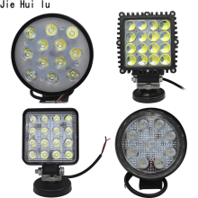 1Pcs 48W 27W 12V 24V LED Work Light Spot/Flood Round LED Offroad Light Lamp Worklight for Off road Motorcycle Car Truck Hot New стоимость