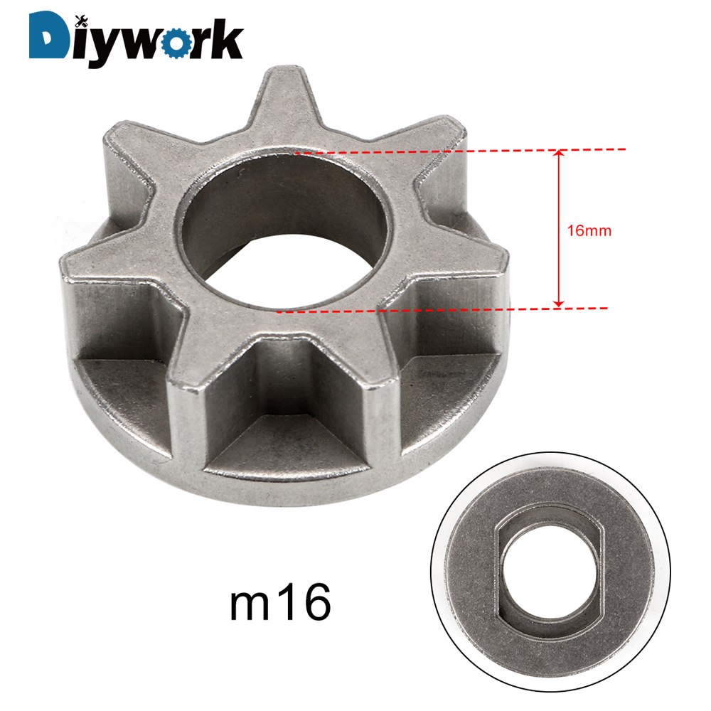 DIYWORK M10/M14/M16 Replacement Gear Power Tool Accessories For 11.5/16/18 Inch Various Chainsaw Gear Bracket