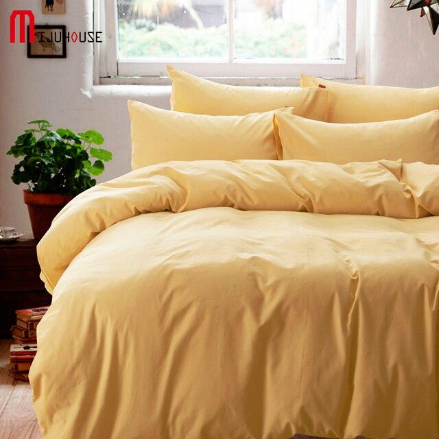 New Solid Comforter Bedding Set 4Pcs Sanding Duvet Cover Bed Sheet Set Solid Color Bedspread Bed Linen King Super King Bed Cover