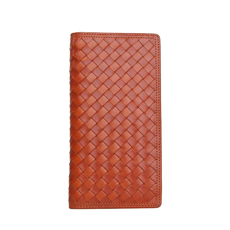 LANSPACE мужские кошельки тканый кожаный кошелек брендовый кошелек Чехол