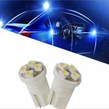 Ceramic Car Interior LED T10 COB W5W 168 Wedge Door Instrument Side Bulb Lamp Car Light Plate Light White/Blue/Green/Red/Yellow(China)